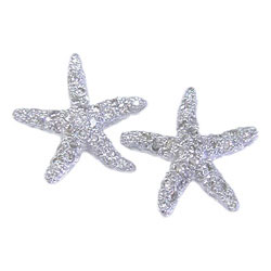 E0109 18KW Diamond Starfish Earrings