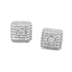 E0114 18KW Diamond Earrings