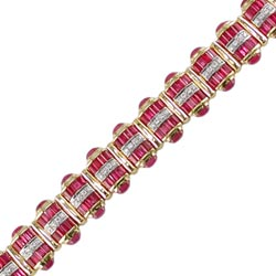B0118 18KT Ruby & Diamond Bracelet