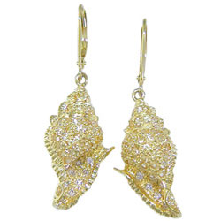 E0136 18KT Yellow Sapphire and Diamond Earrings