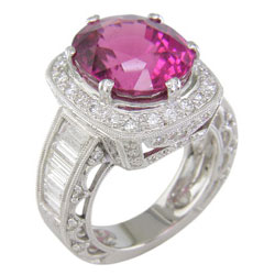 L1788 18KW Lilac Tourmaline and Diamond Ring