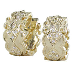 E1825 18KT Diamond Earrings