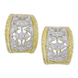 E1916 18KT/KW Diamond Earrings