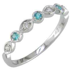 L2046 18KW Brazilian Paraiba and Diamond Band