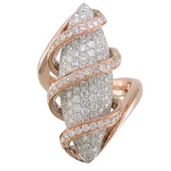 L2147 18KR/KW Pauve Diamond Ring