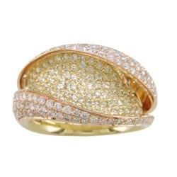 L2265 18KT/KR Yellow & White Diamond Ring