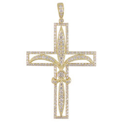 P2345 18KT Diamond Cross Pendant