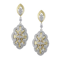 E2459 18KT/KW Diamond Earrings