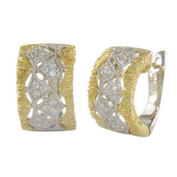 E2460 18KT/KW Diamond Earrings