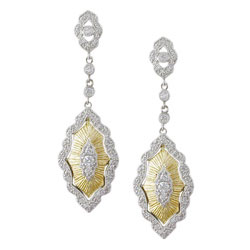 E2462 18KT/KW Diamond Earrings