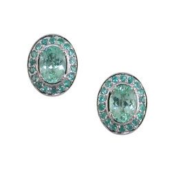 E2483 18KW Mozambique Paraiba Earrings