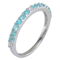L2500 18KW Brazilian Paraiba and Diamond Band