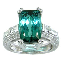 L0464 Tourmaline and Diamond Ring