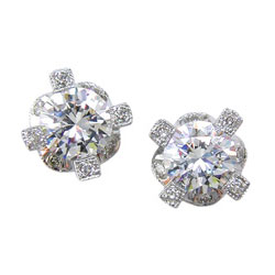 E0485 18KW Diamond Earrings