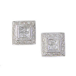 E0808 18KW Diamond Earrings